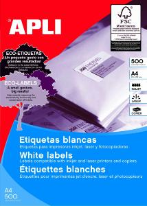 Etiquettes blanches format 70x35mm