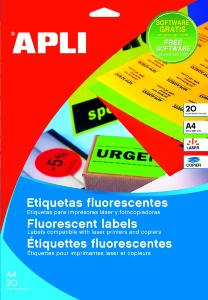 Etiquettes orange fluo 64x33.9  480u